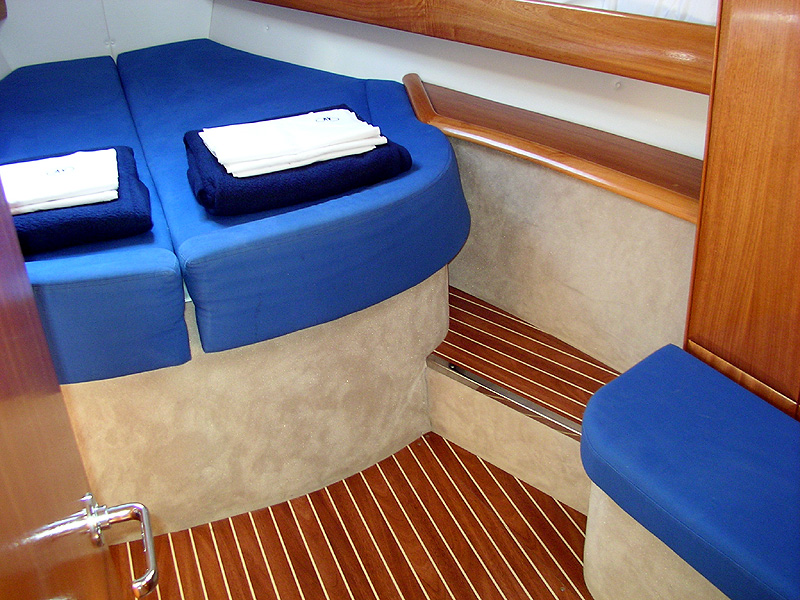 The Bug cabin of the Bavaria 46 is very comfortable. Not every yacht is as ...